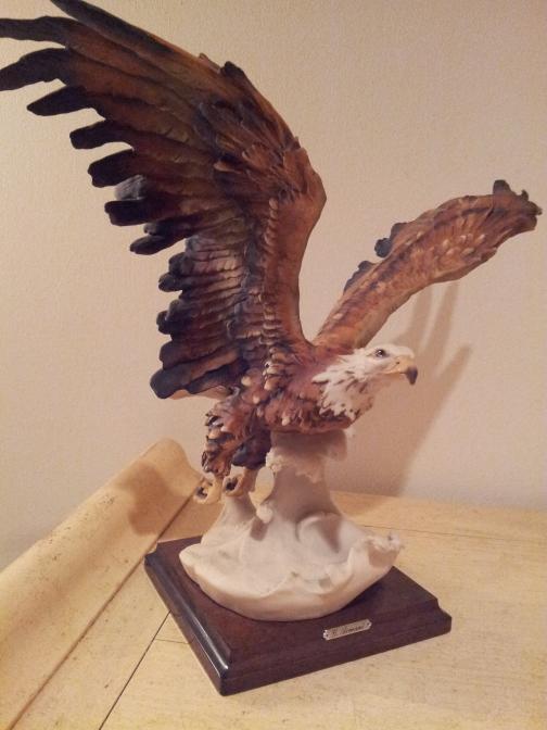 Dads eagle statue- Nuala Molloy Moran